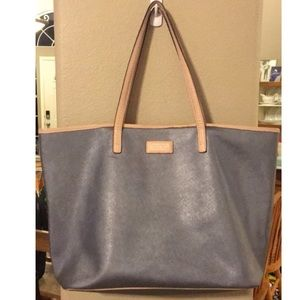 Coach Metro Park Silver Leather Tote